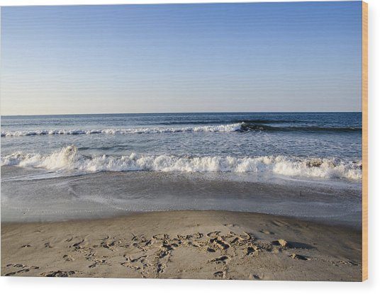 Rockaway Beach Morning Shoreline Wood Print
