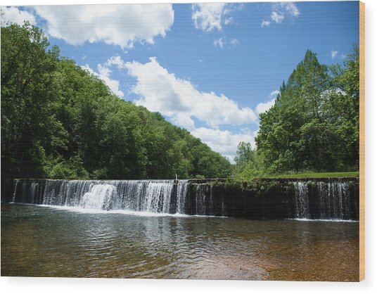 Rockbridge Mill Dam Wood Print