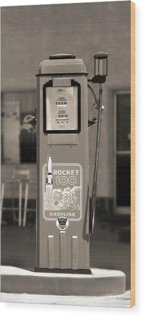 Rocket 100 Gasoline - Tokheim Gas Pump 2 Wood Print