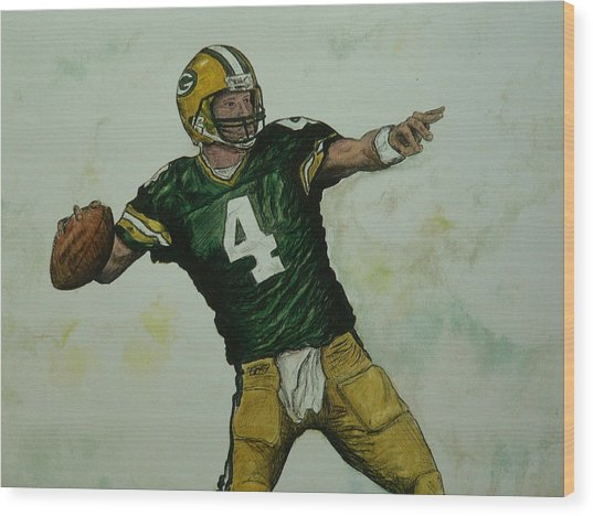 Rocket Favre Wood Print