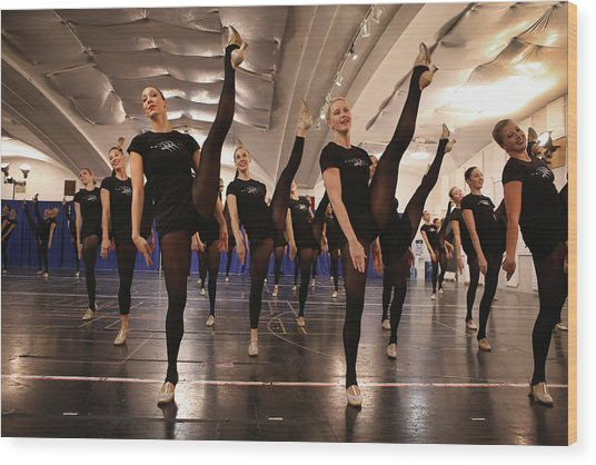 Rockettes Preview Annual Radio City Wood Print
