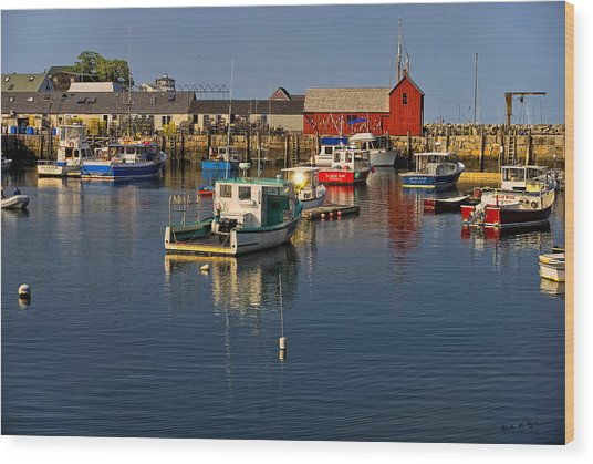 Rockport Harbor No.1 Wood Print