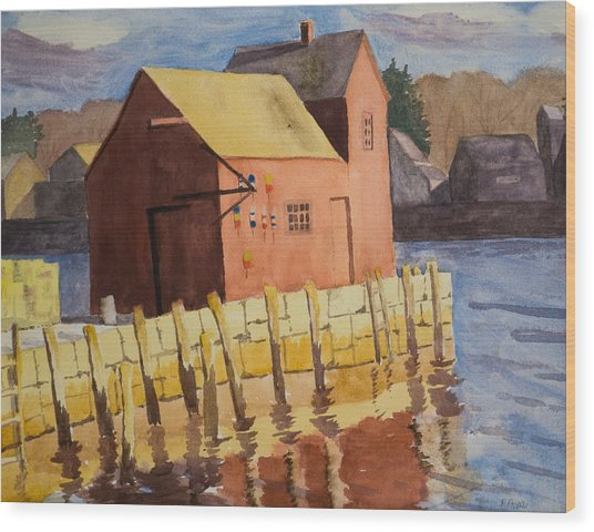 Rockport Motif Number One Wood Print by Peggy Poppe