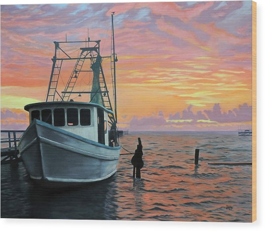 Rockport Sunrise Wood Print
