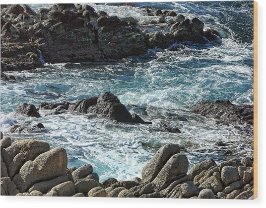 Rocks Off Shore Cabo San Lucas Wood Print by Linda Phelps