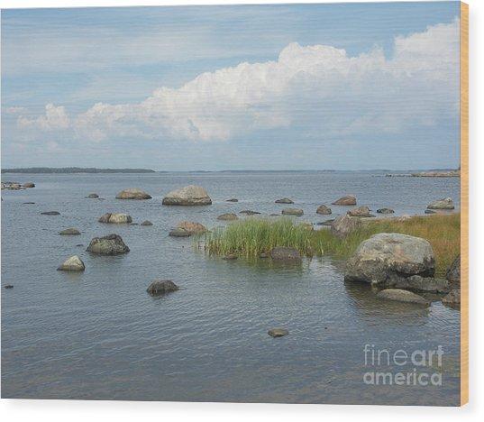 Rocks On The Baltic Sea Wood Print
