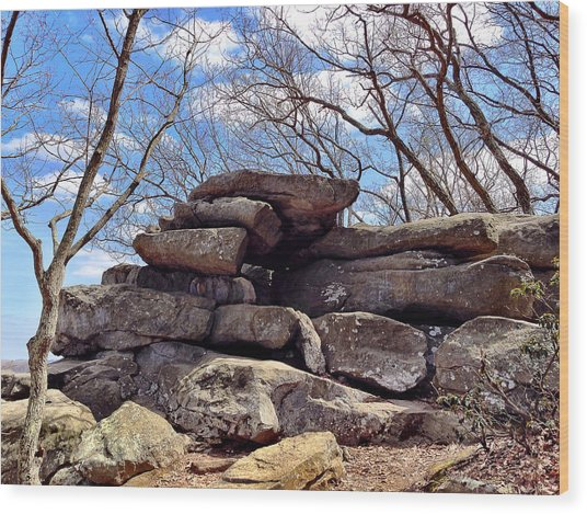 Rocks State Park Wood Print