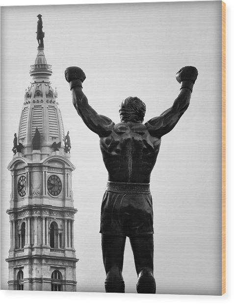 Rocky And Philadelphia Wood Print