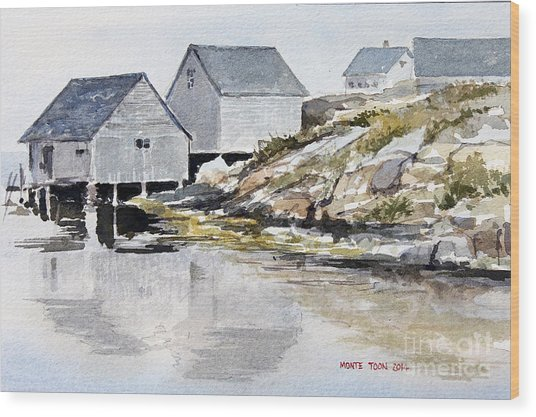 Rocky Inlet Wood Print