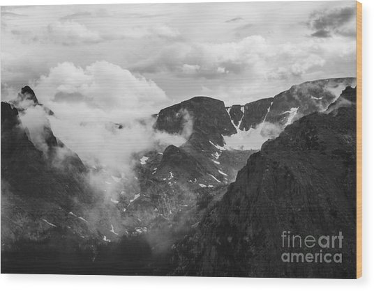 Rocky Mountain Awe Wood Print