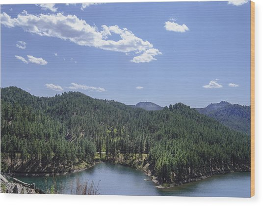 Wood Print featuring the photograph Rocky Mountain Lake by Judy Hall-Folde