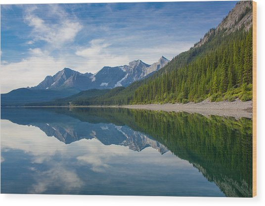 Rocky Mountain Moment Wood Print by Laura Bentley