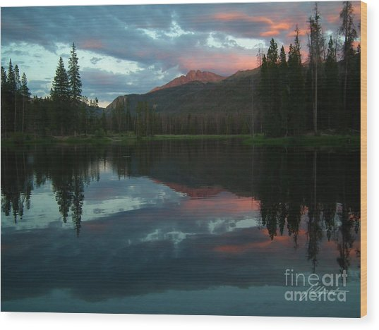 Rocky Mountain Sunset Wood Print