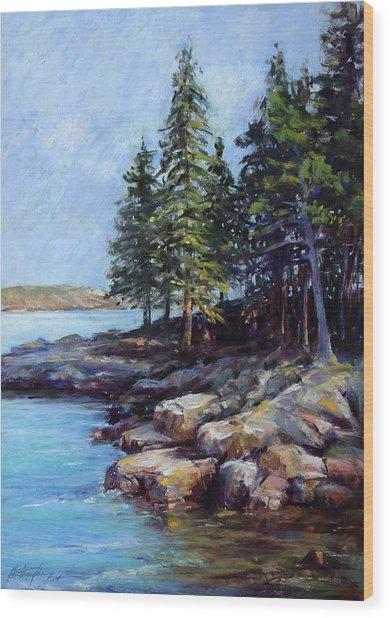Rocky Point Wood Print by Beverly Amundson