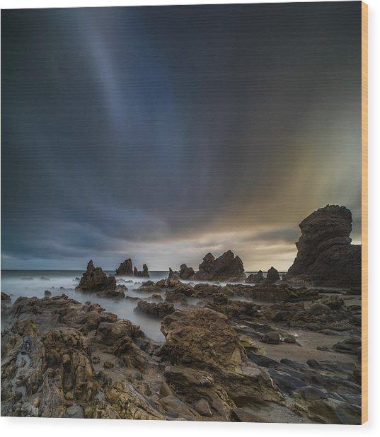 Rocky Southern California Beach 3 Wood Print