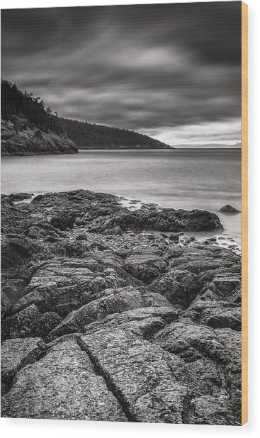 Rocky Storm Wood Print
