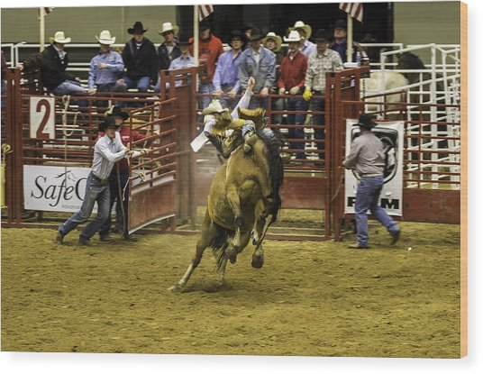 Rodeo Wood Print by Jason Smith