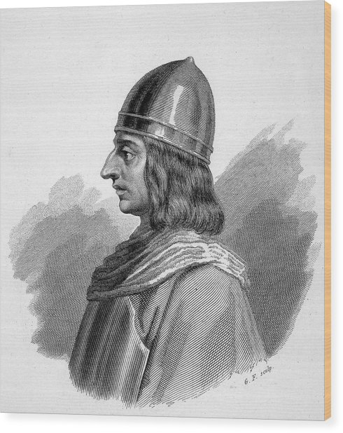 Roger I, (ruggiero) Guiscard  Norman Wood Print by Mary Evans Picture Library