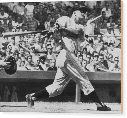Roger Maris Hits 52nd Home Run Wood Print