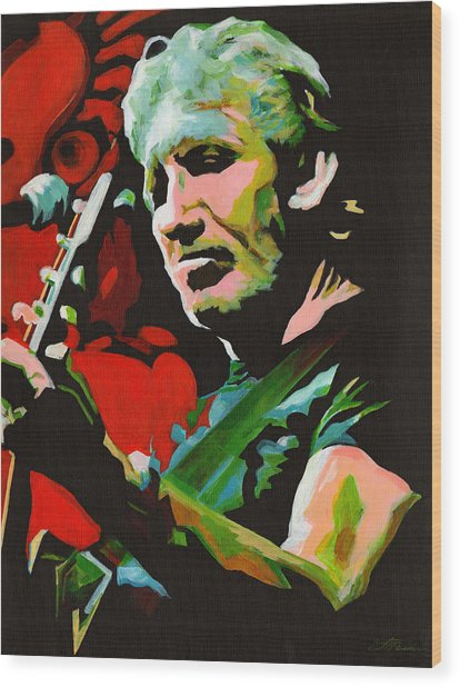 Roger Waters. Breaking The Wall  Wood Print