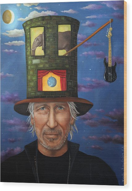 Roger Waters Wood Print