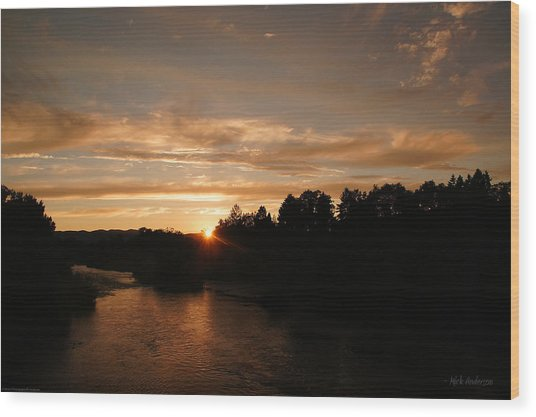 Rogue August Sunset Wood Print