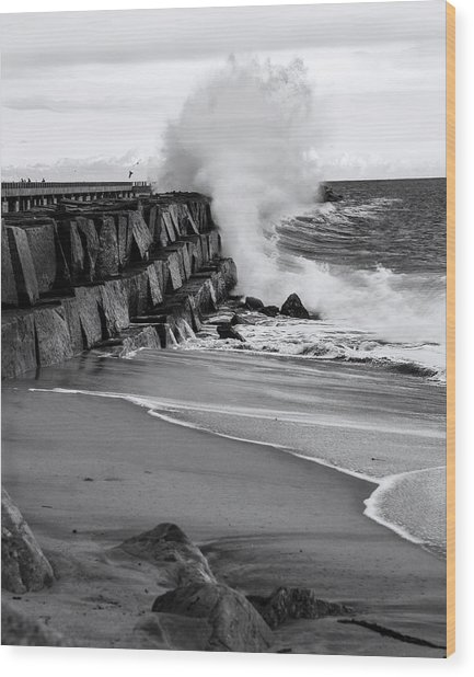 Rogue Bullet Wave Cabrillo Beach By Denise Dube Wood Print