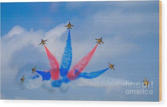 Rokaf Aerobatic Team Wood Print