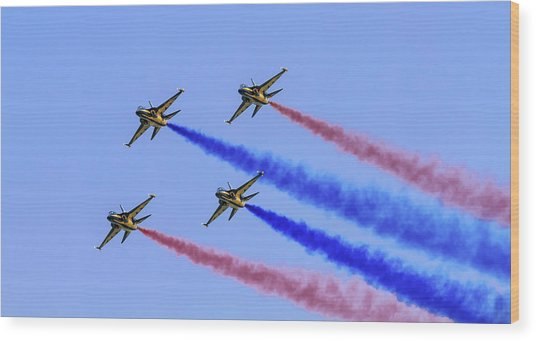 Rokaf Black Eagles Wood Print