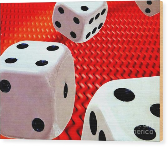 Roll Of The Dice Wood Print