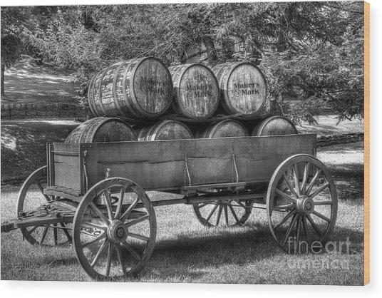 Roll Out The Barrels Wood Print