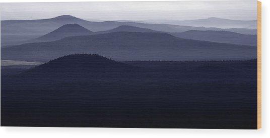 Rolling Hills Wood Print