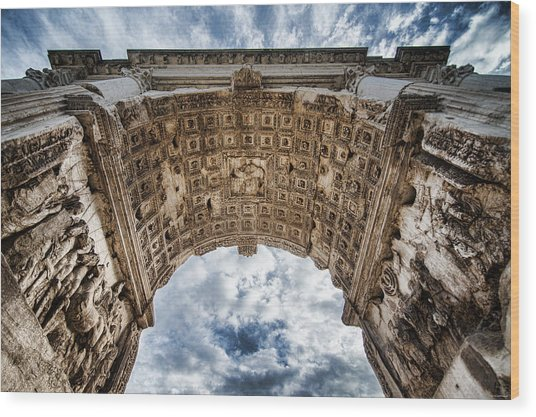 Wood Print featuring the photograph Roman Arch by Ryan Wyckoff