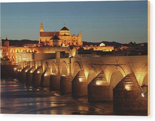 Roman Bridge Córdoba Wood Print by David Bank