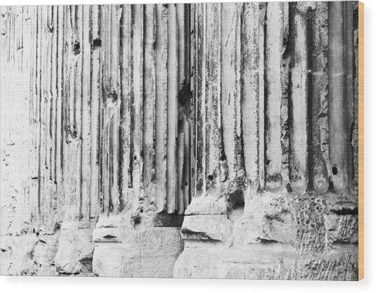 Roman Columns Wood Print