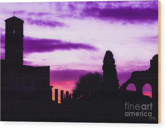 Roman Sunrise Wood Print