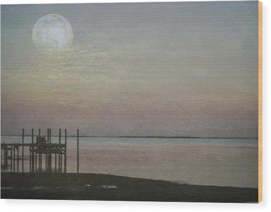 Romancing The Moon Wood Print