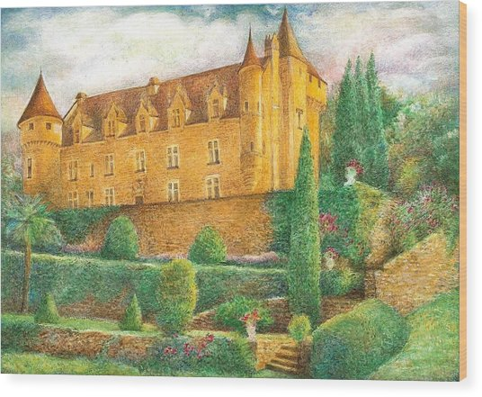 Romantic French Chateau Wood Print