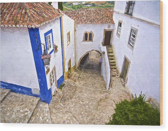 Romantic Obidos Wood Print