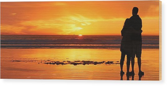 Romantic Sunset  Wood Print