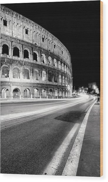 Rome Colloseo Wood Print