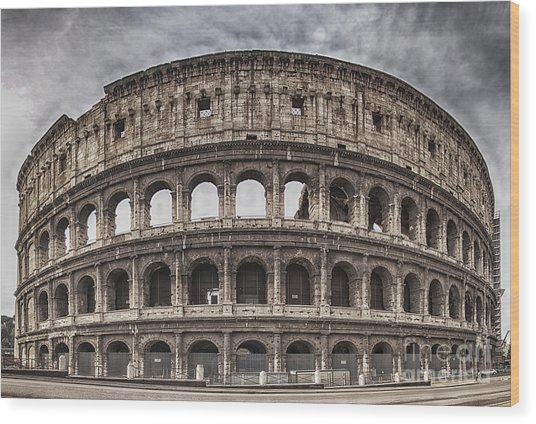 Rome Colosseum 02 Wood Print