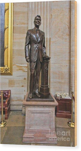Ronald Regan -  U S Capitol Statuary Hall Wood Print