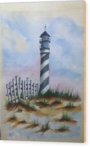 Ron's Lighthouse Wood Print