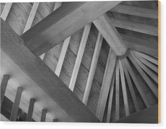 Roof Structure Wood Print