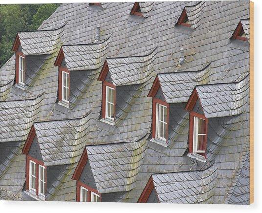 Roof Tops Wood Print