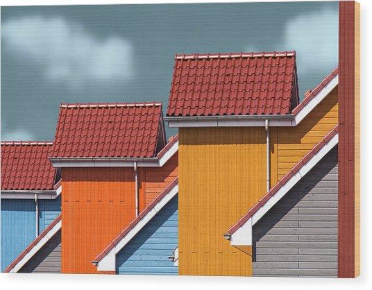 Roofs Wood Print