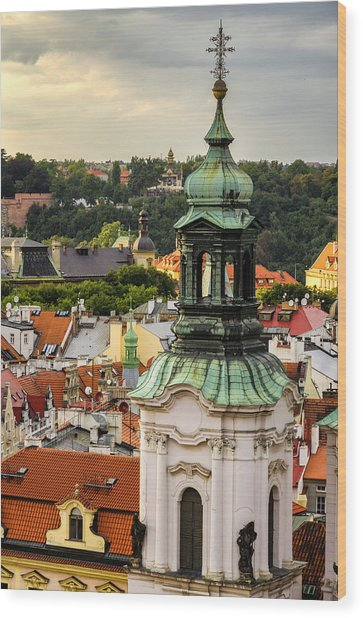 Rooftops Of Prague 1 Wood Print