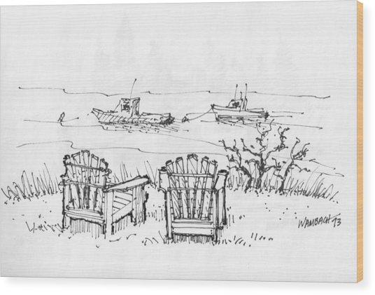 Room For Two Monhegan Island 1993 Wood Print