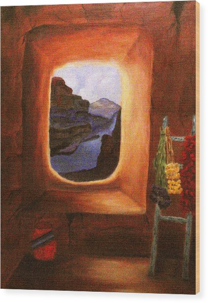 Room With A View Wood Print by Janis  Tafoya